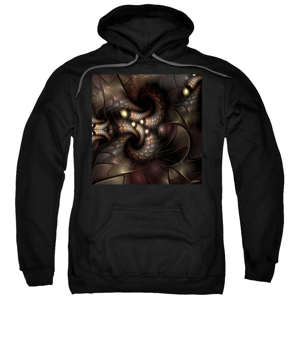 Abstract Sweatshirt featuring the digital art Circumstance And Puzzlement by Casey Kotas