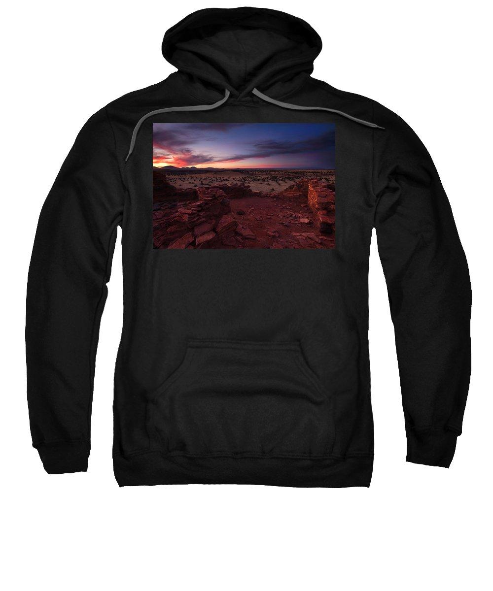 Pueblo Sweatshirt featuring the photograph Citadel Sunset by Mike Dawson
