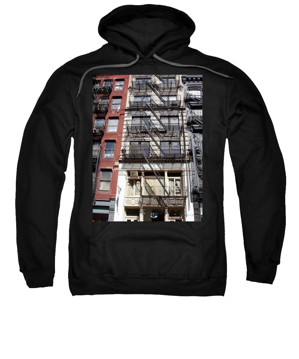 City Sweatshirt featuring the photograph City Complex by Deborah Crew-Johnson