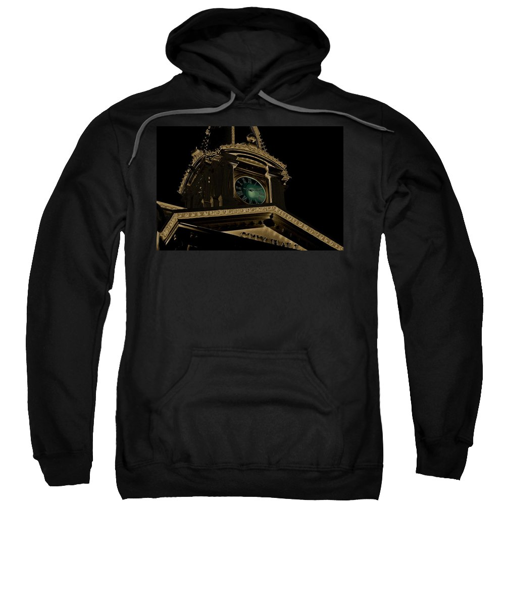 City Hall Sweatshirt featuring the photograph City Hall by Robert Meanor
