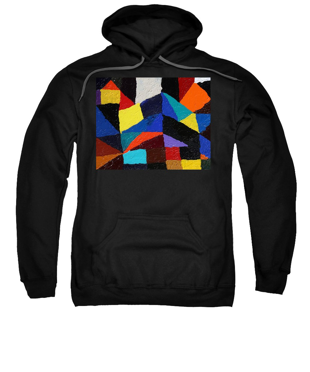 Fusionart Sweatshirt featuring the painting CityScape by Ralph White