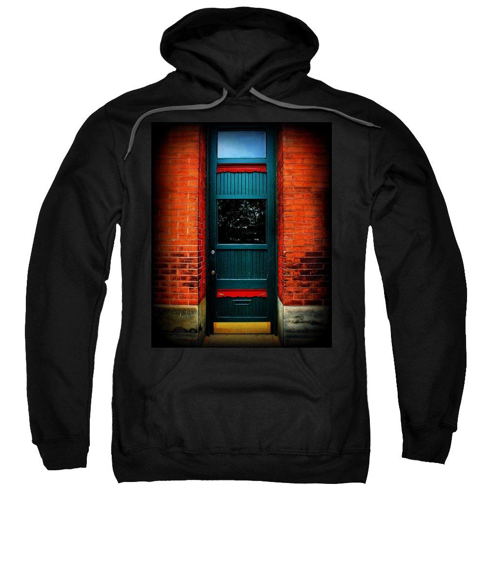 Door Sweatshirt featuring the photograph Classic Door by Perry Webster