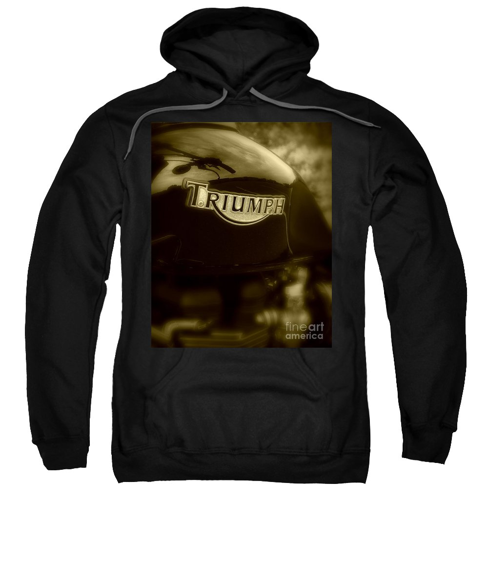 Triumph Sweatshirt featuring the photograph Classic Old Triumph by Perry Webster