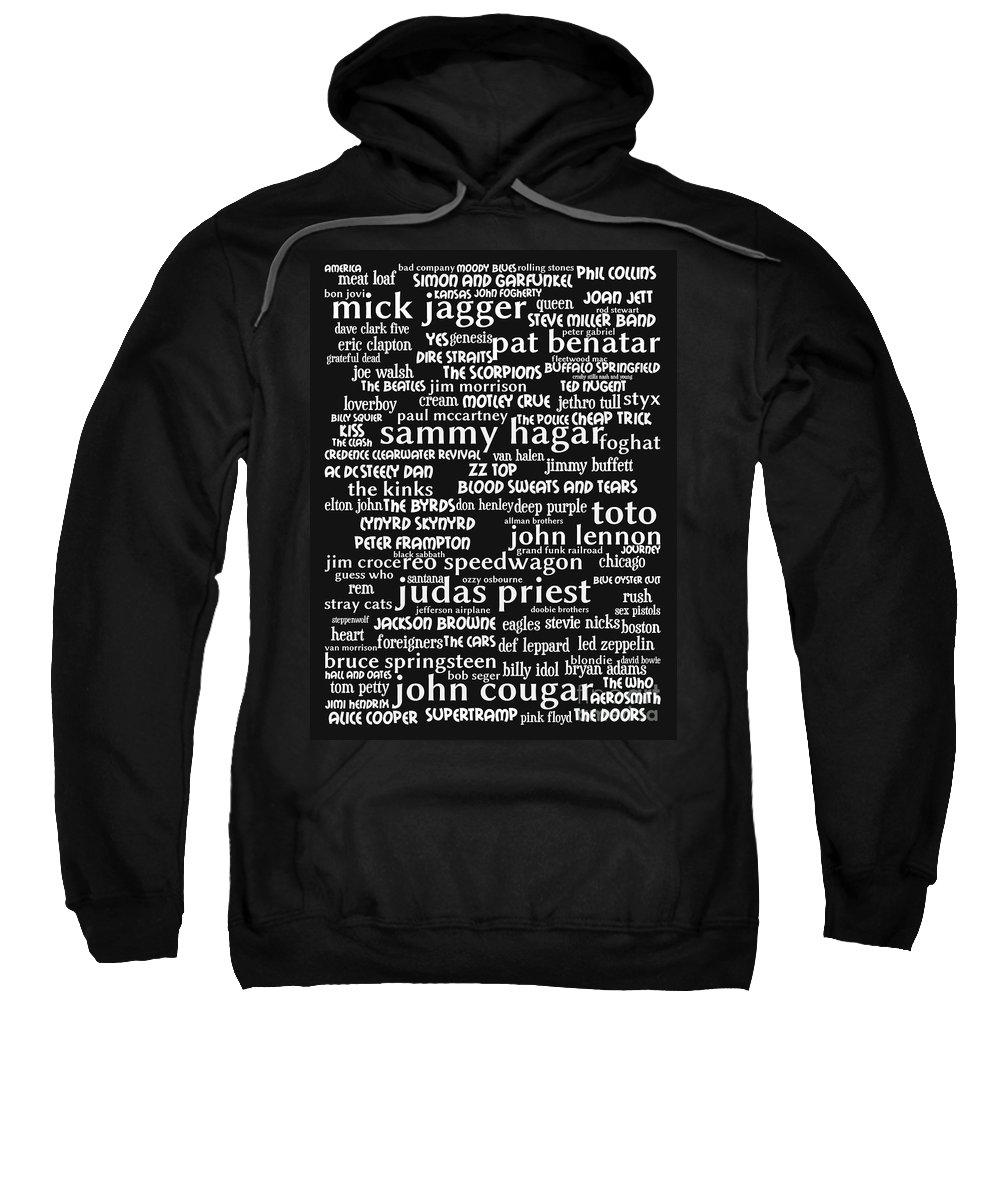 Wingsdomain Sweatshirt featuring the photograph Classic Rock bw by Wingsdomain Art and Photography