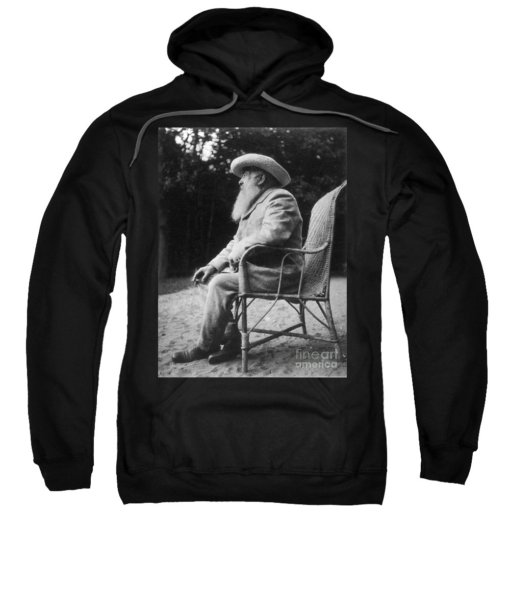 20th Century Sweatshirt featuring the photograph Claude Monet (1840-1926) by Granger