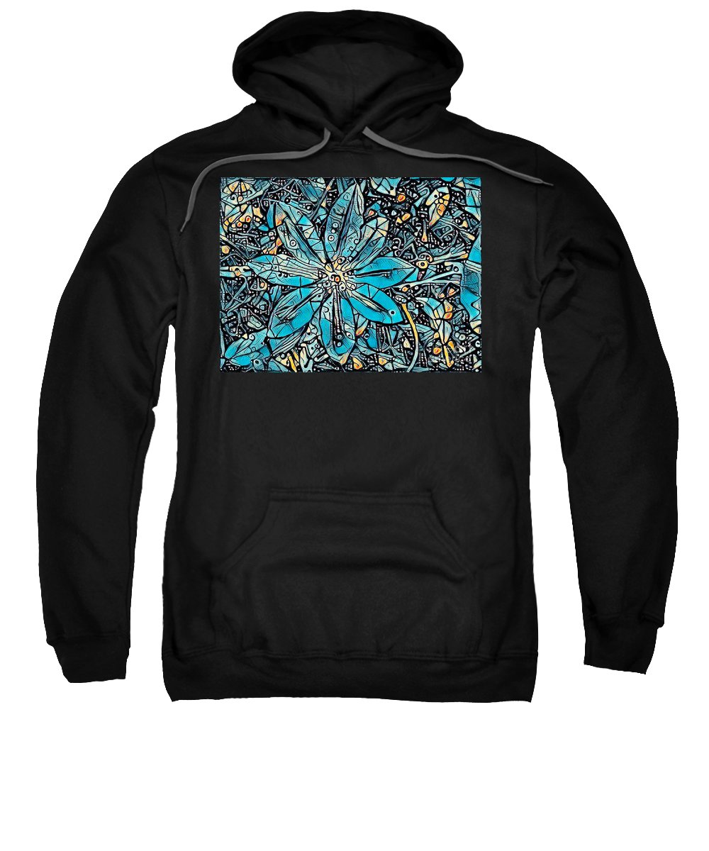 Floral Sweatshirt featuring the photograph Clematis In Blue Fantasia by Jack Torcello