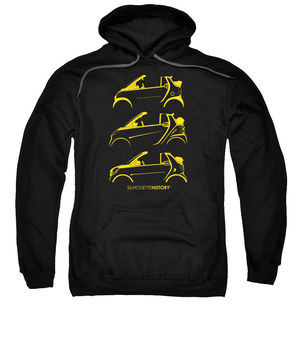 Smart Sweatshirt featuring the digital art Clever Cabrio Silhouettehistory by Gabor Vida