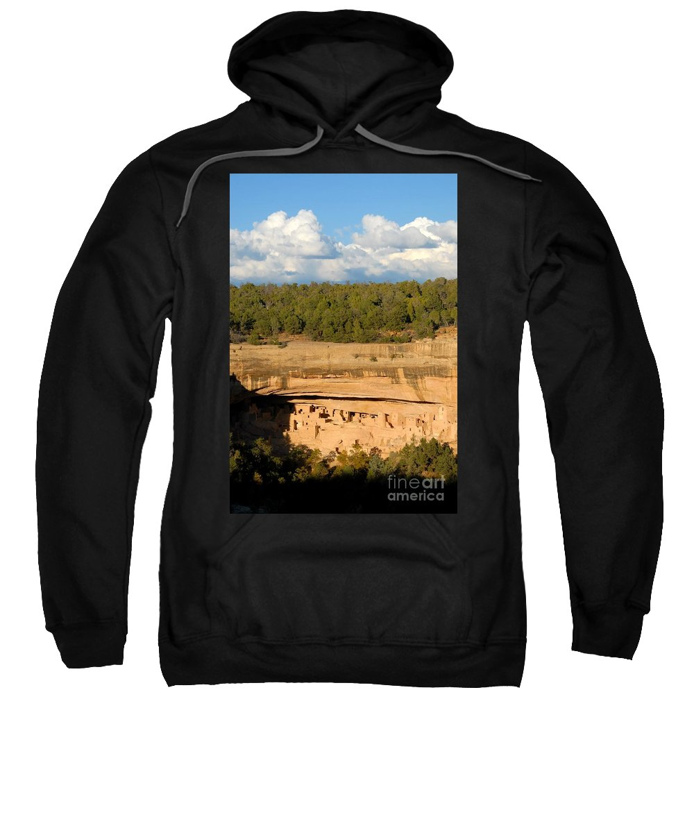 Cliff Palace Sweatshirt featuring the photograph Cliff Palace Landscape by David Lee Thompson