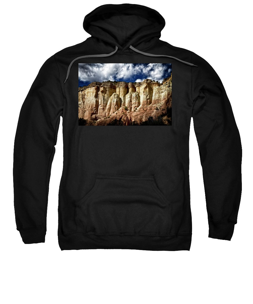Cliff Sweatshirt featuring the photograph Cliffs At Echo Amphitheater by Robert Woodward