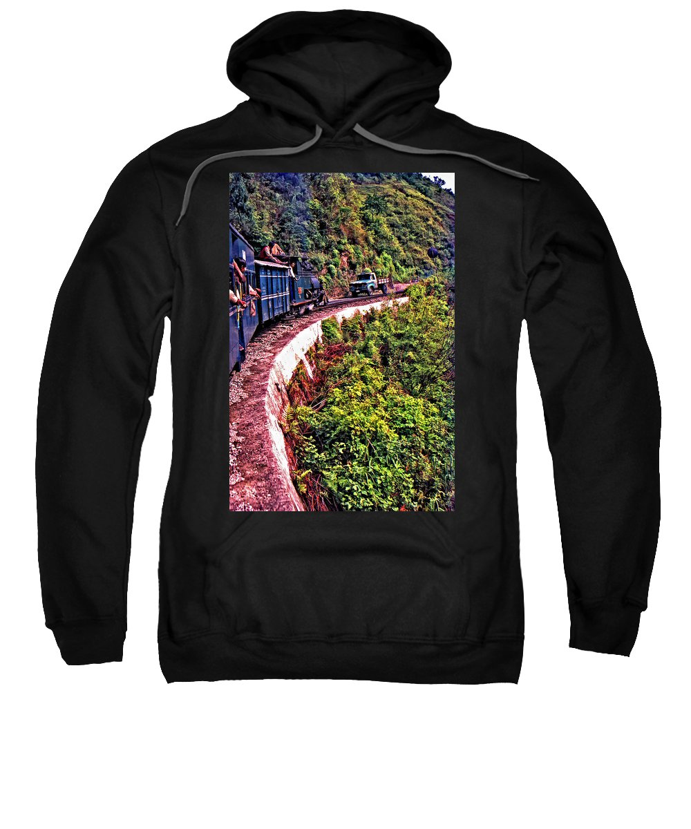 Toy Train Sweatshirt featuring the photograph Climbing The Himalayas by Steve Harrington