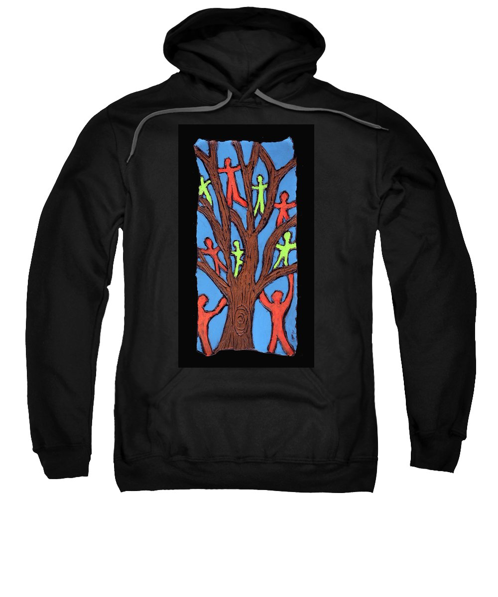People Sweatshirt featuring the painting Climbing by Wayne Potrafka
