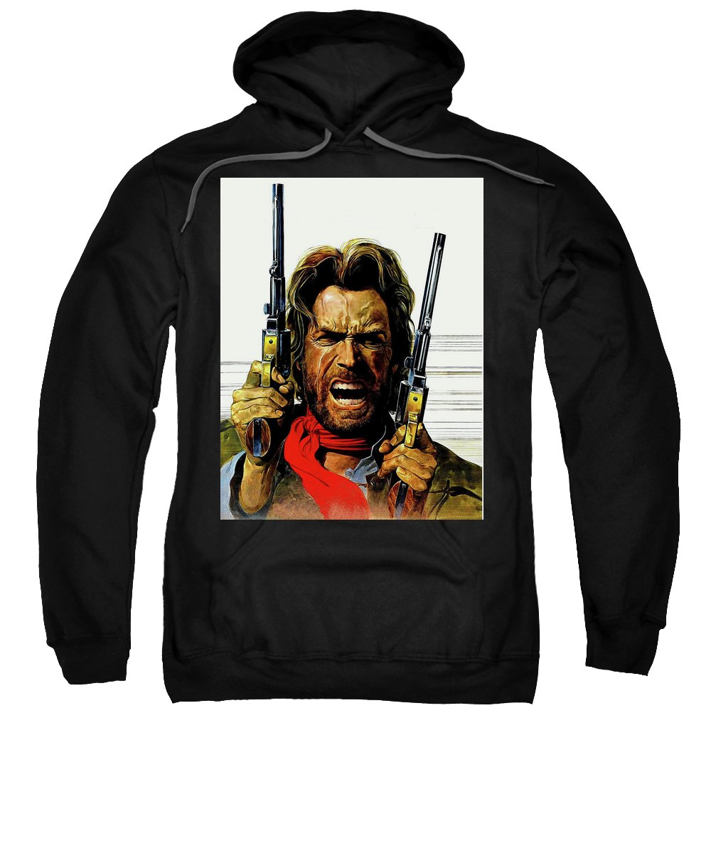 Clint Eastwood As Josey Wales Sweatshirt featuring the mixed media Clint Eastwood As Josey Wales by David Dehner