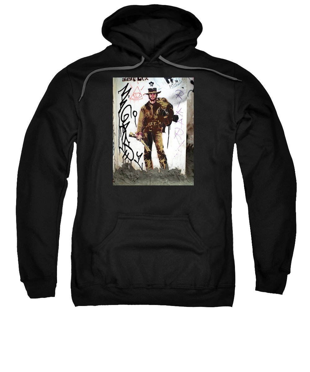 Graffiti Sweatshirt featuring the painting Clint by Roger Muntes