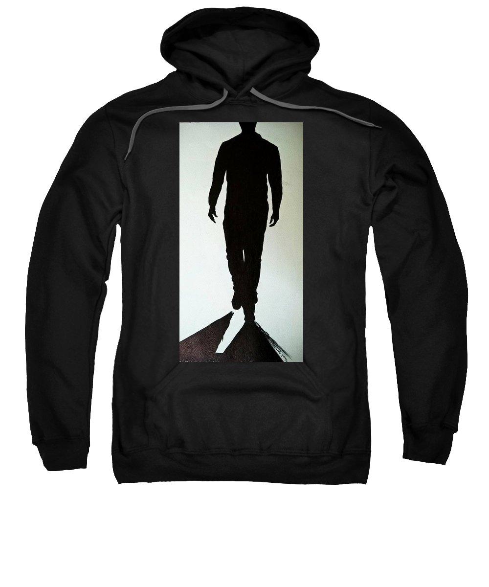 Figurative Sweatshirt featuring the drawing Close by Murali Gatti