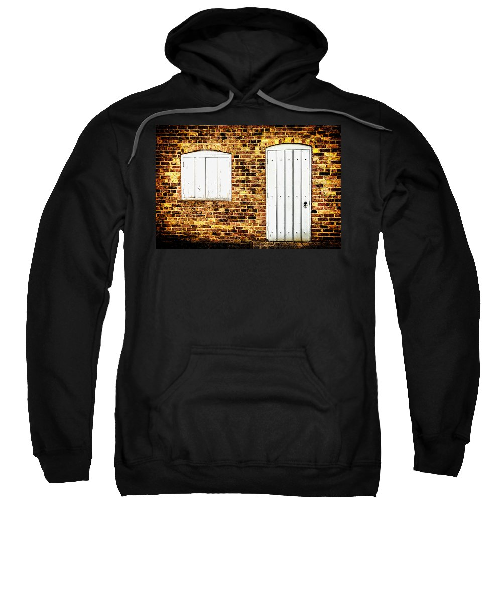 Shop Sweatshirt featuring the photograph Closed For Business by Nick Bywater