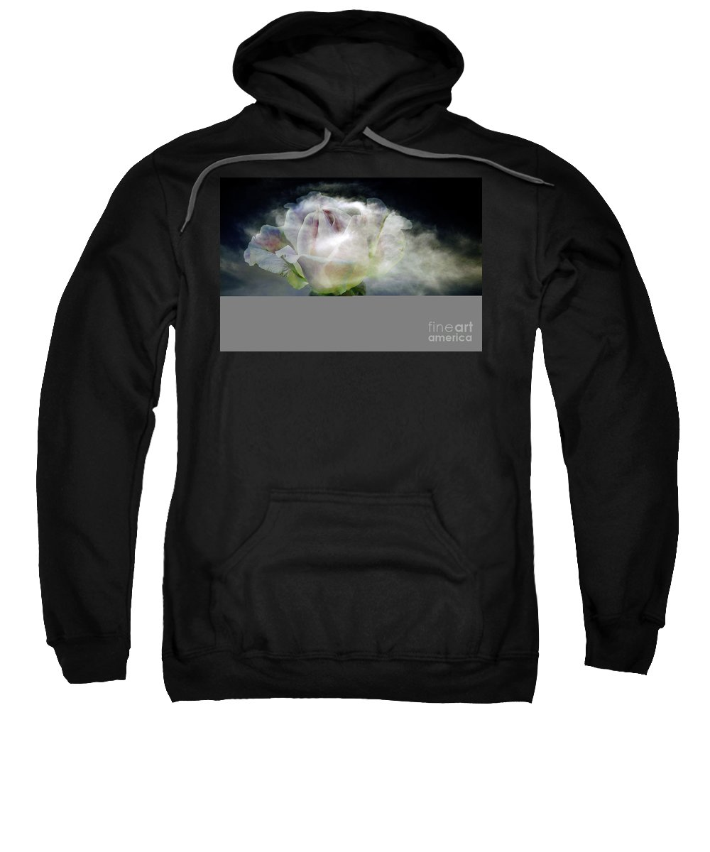Clay Sweatshirt featuring the photograph Cloud Rose by Clayton Bruster