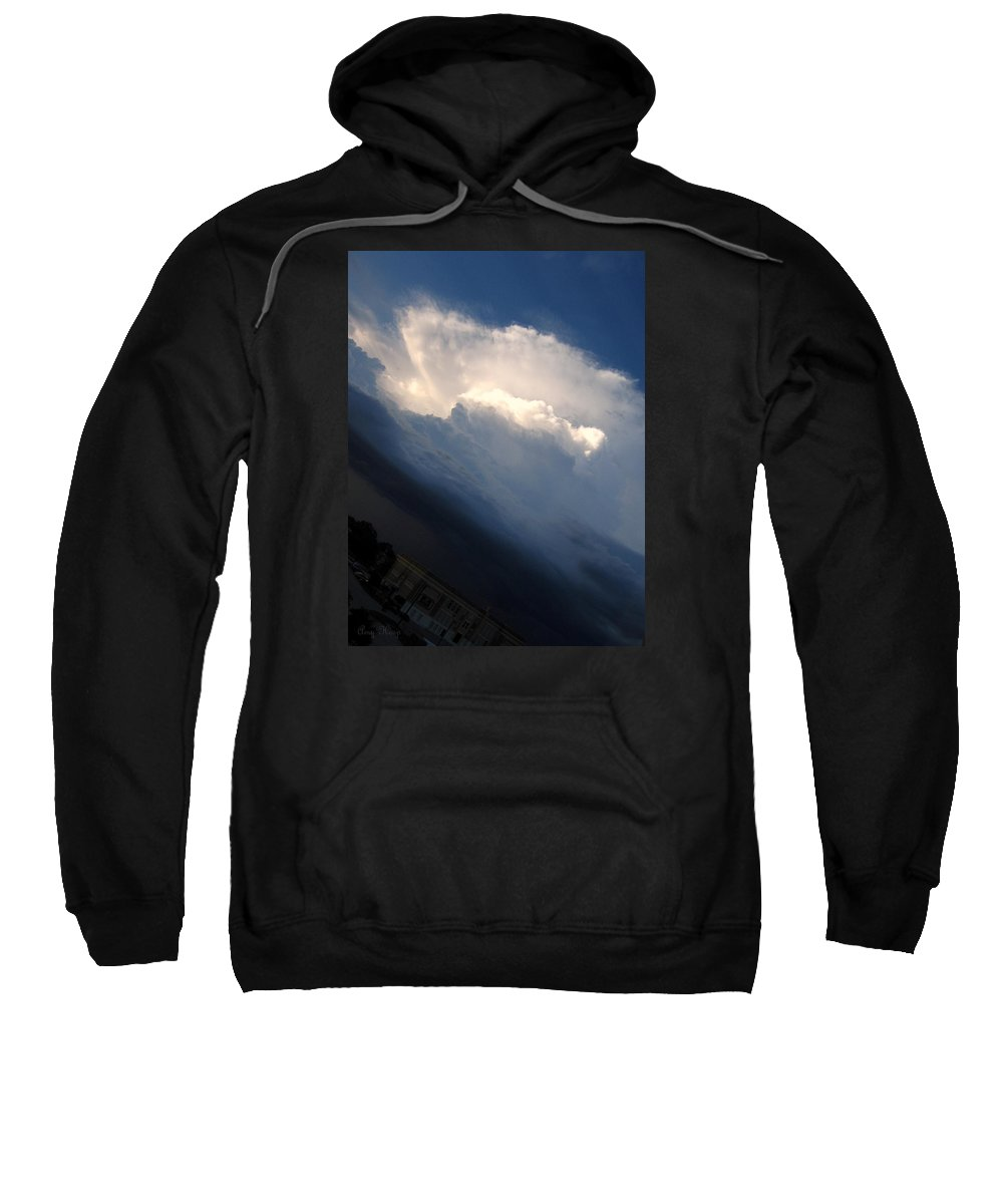Clouds Sweatshirt featuring the photograph Clouds by Amy Hosp