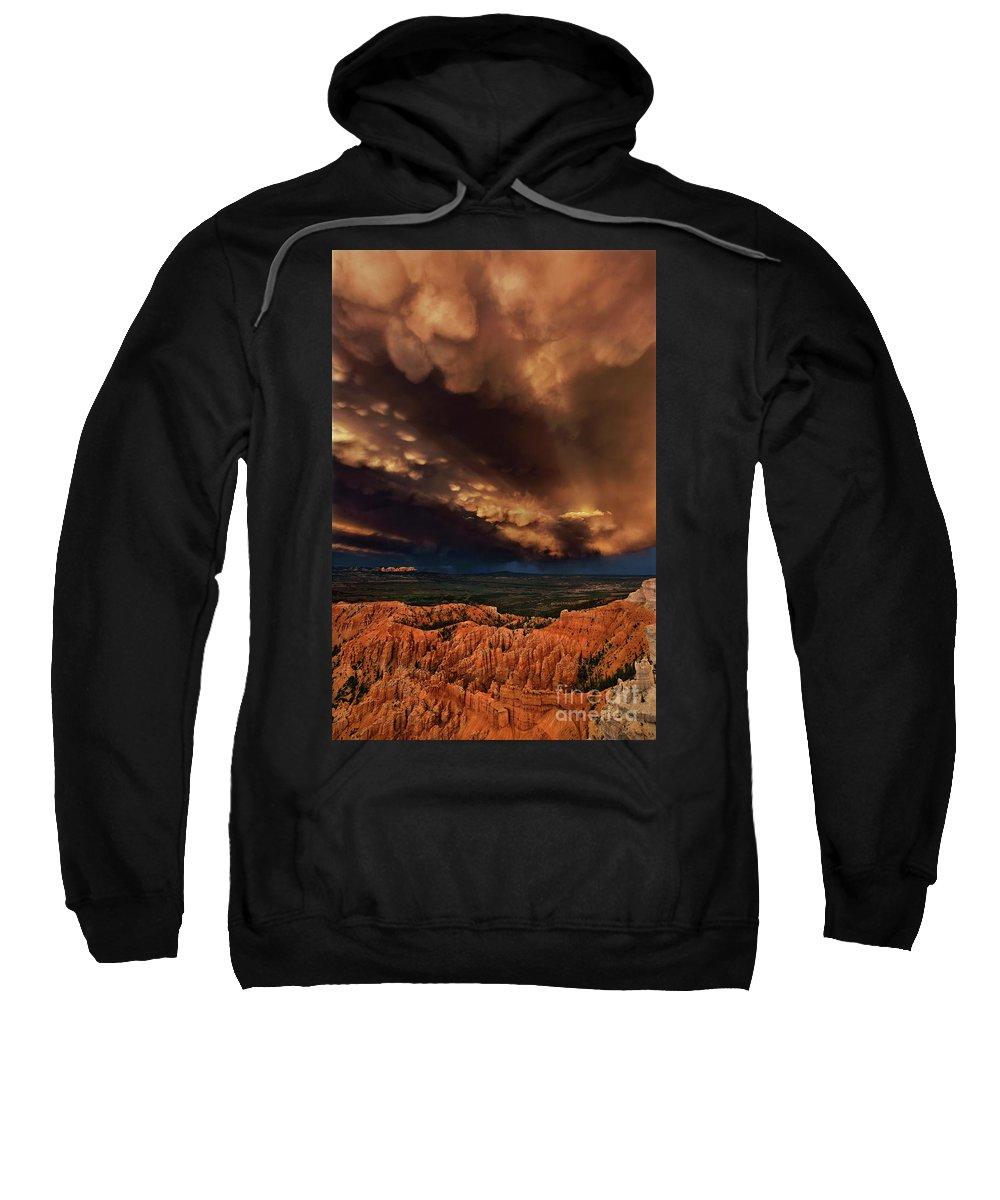 North America Sweatshirt featuring the photograph Clouds And Thunderstorm Bryce Canyon National Park by Dave Welling