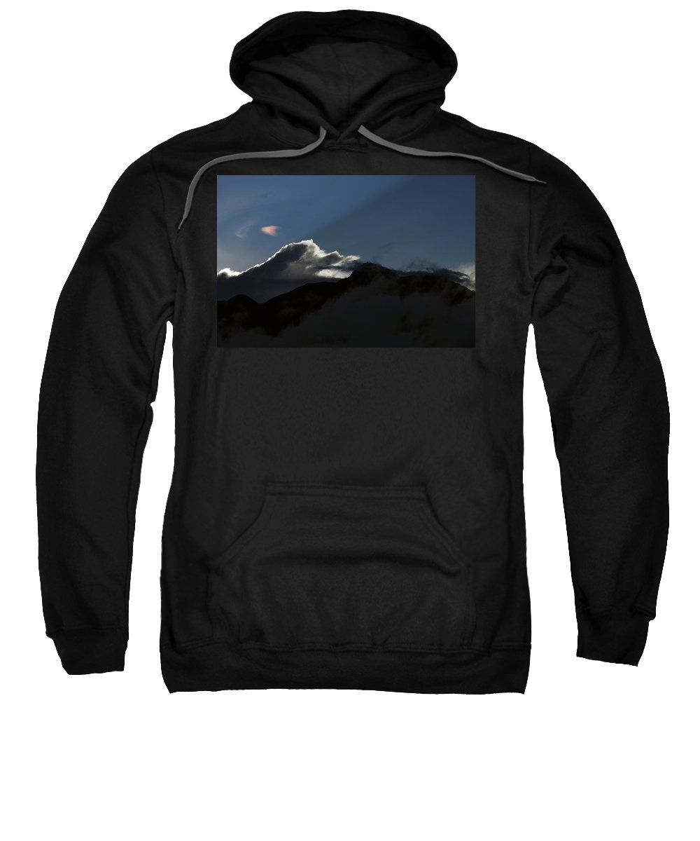 Volcano Sweatshirt featuring the photograph Clouds At Sunset by Robert Hamm