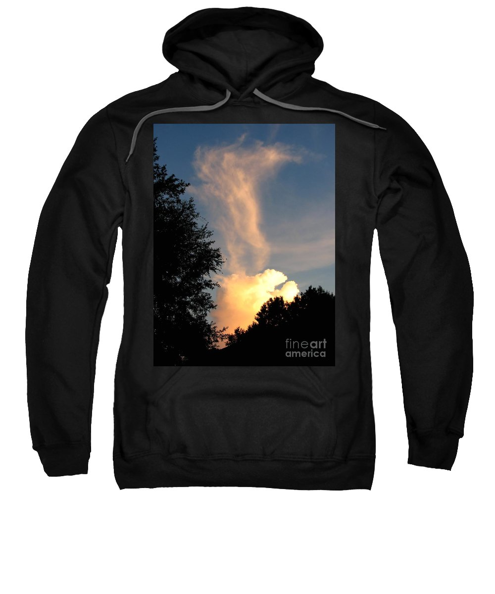 Landscape Sweatshirt featuring the photograph Clouds On Fire by Todd Blanchard