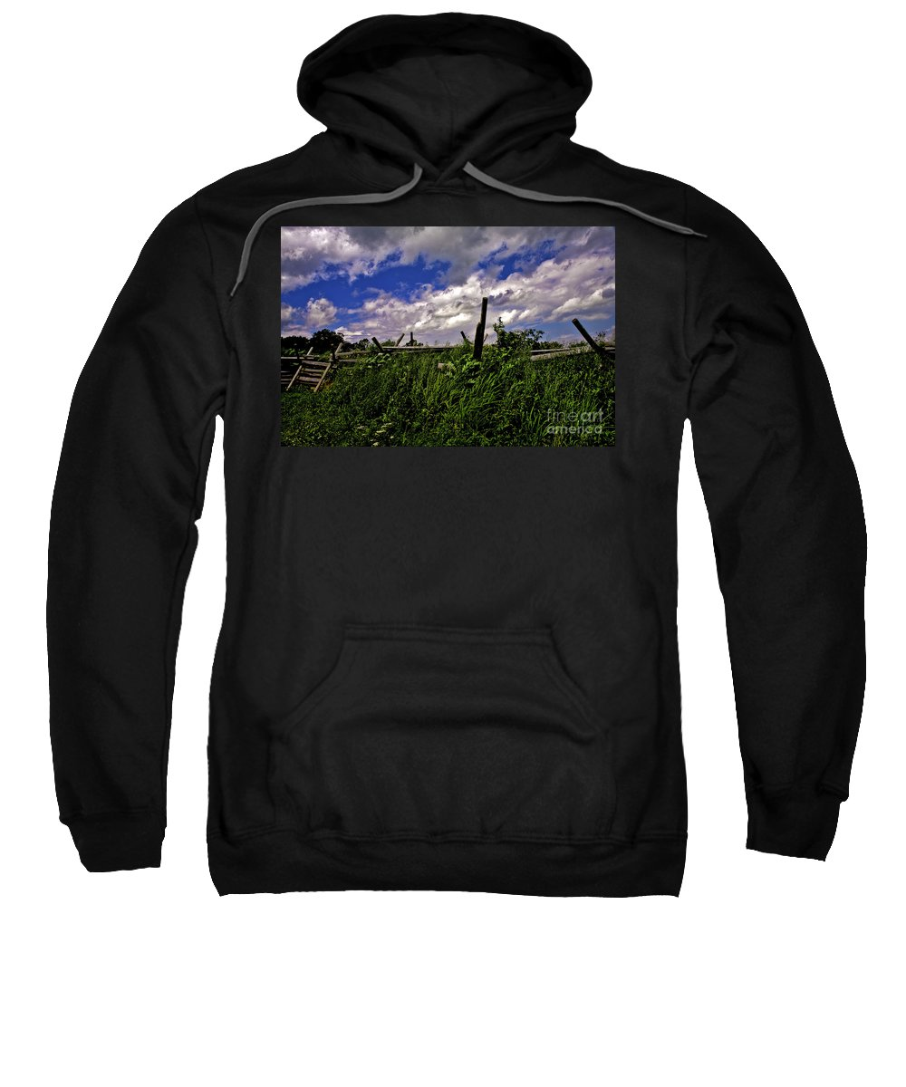 Field Sweatshirt featuring the photograph Clouds Over Gettysburg by Madeline Ellis