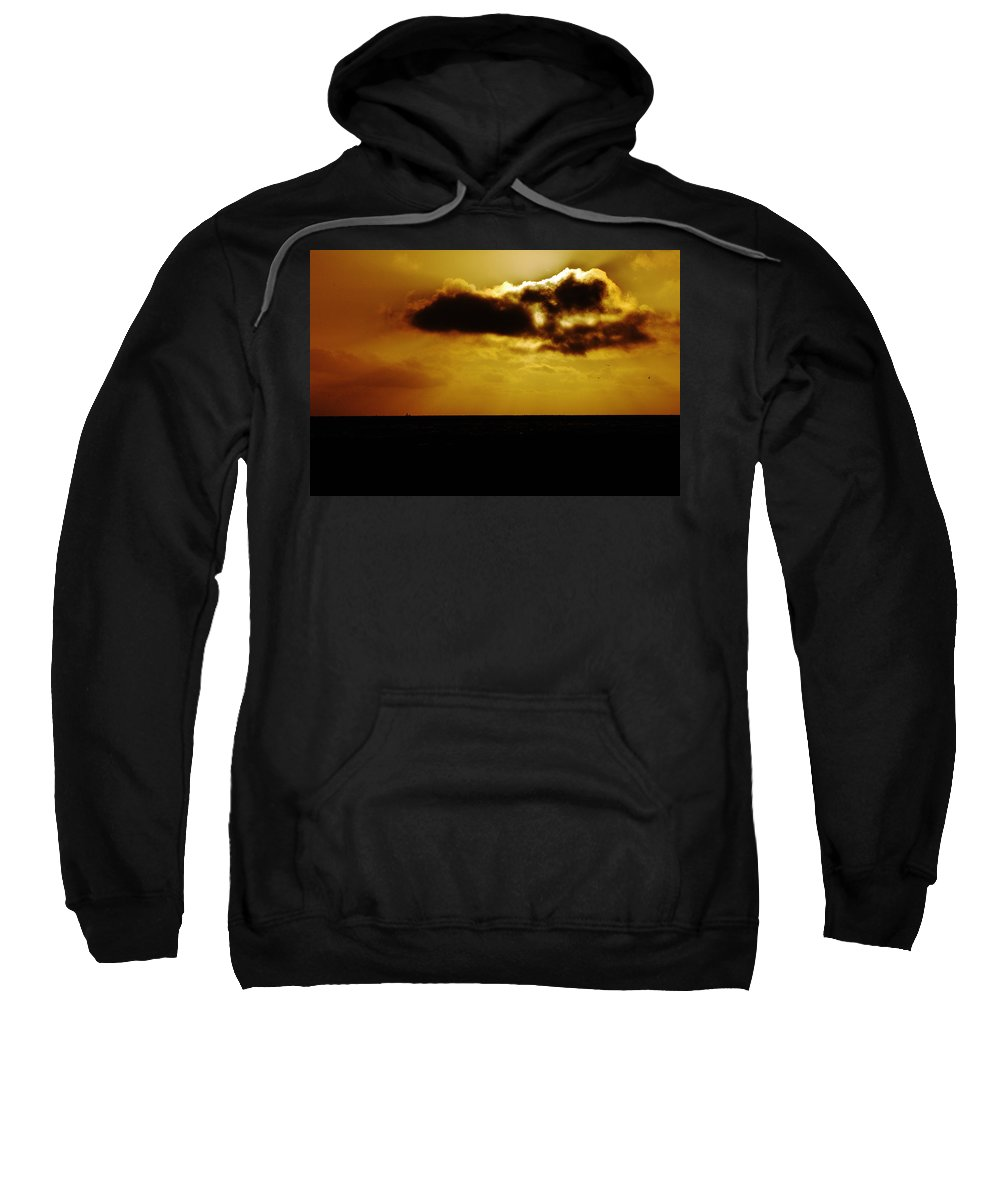 Clay Sweatshirt featuring the photograph Clouds Over The Ocean by Clayton Bruster