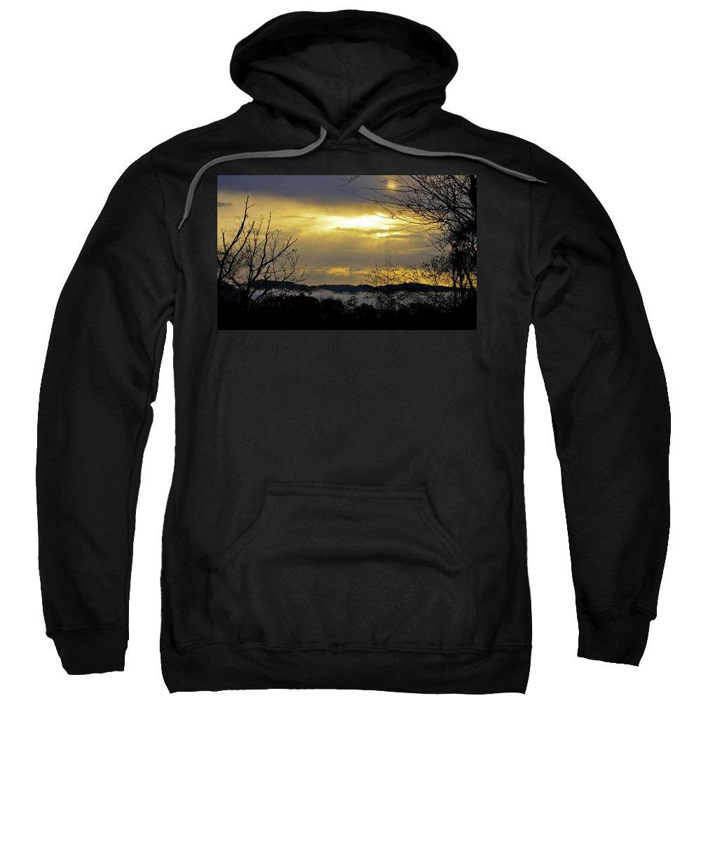 Sunrise Sweatshirt featuring the photograph Cloudy Sunrise 1 by Teresa Mucha