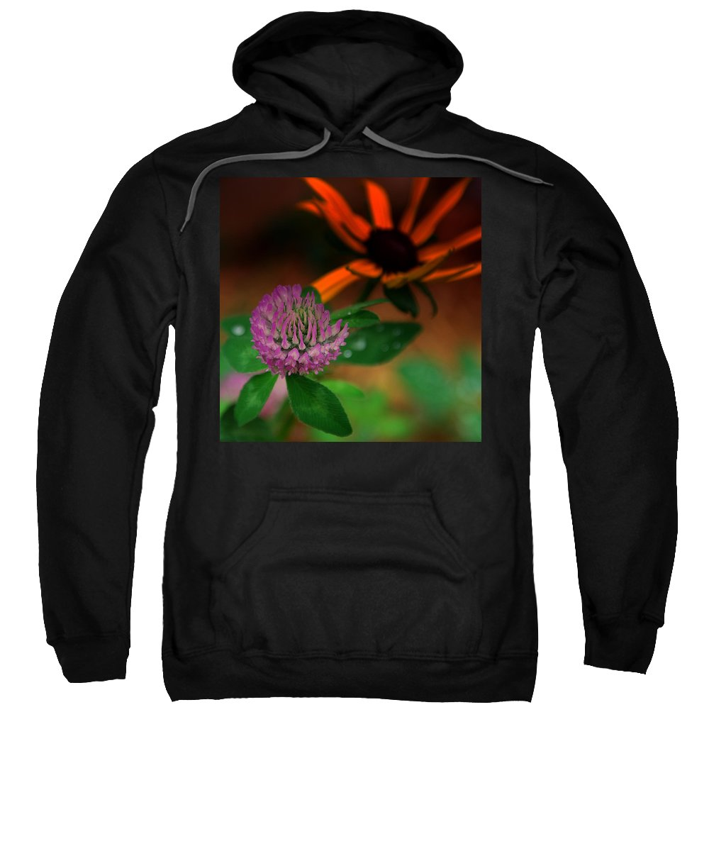 Clover Sweatshirt featuring the photograph Clover In My Yard by Susanne Van Hulst