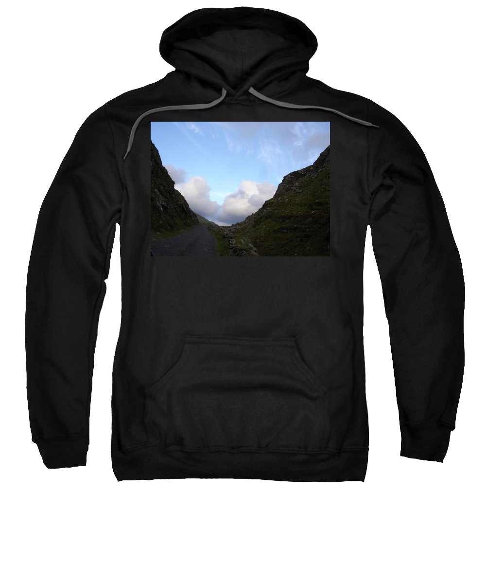 Sweatshirt featuring the photograph Clowdy Drive by Kelly Mezzapelle