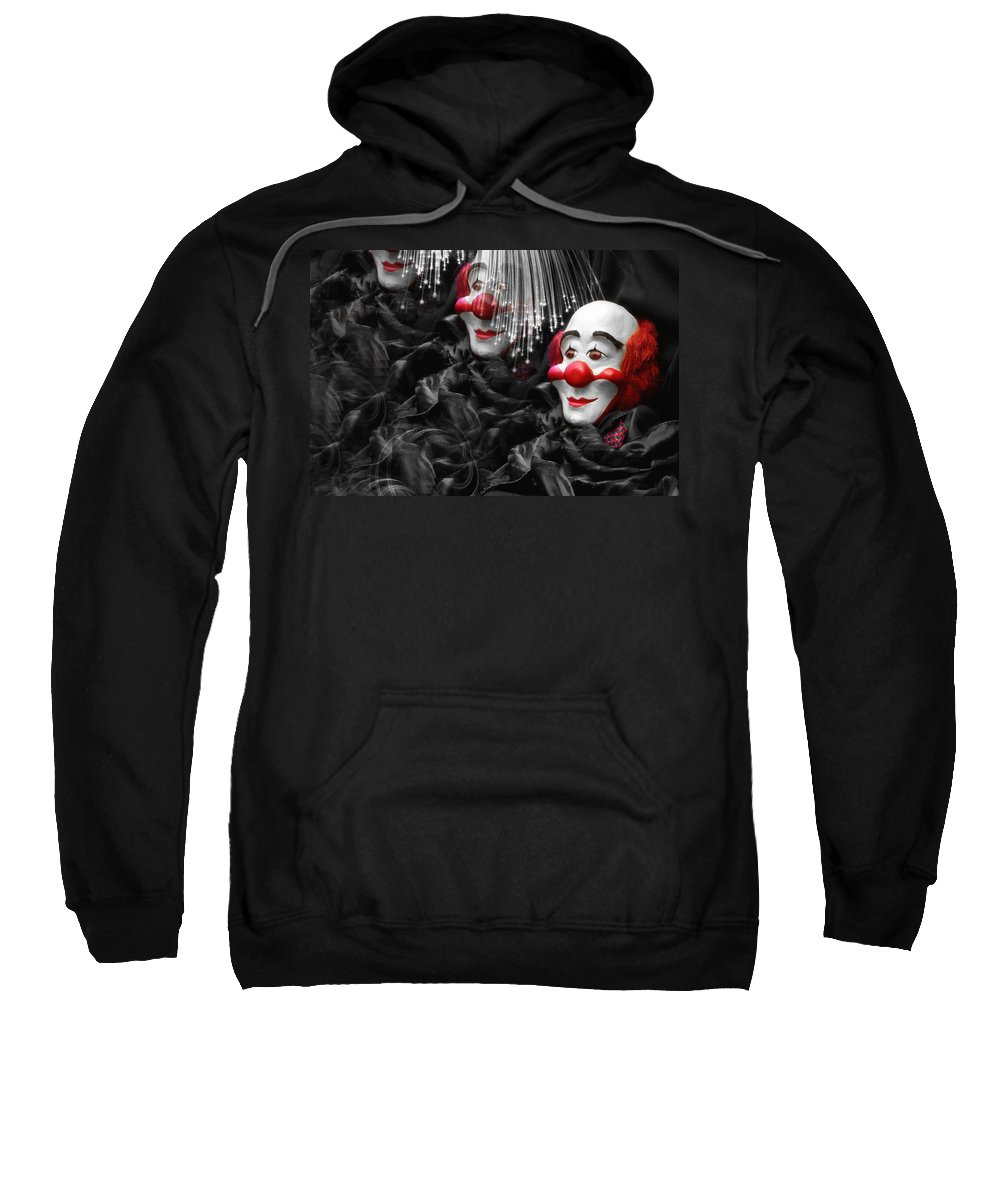 Clown Sweatshirt featuring the photograph Clown by Manfred Lutzius