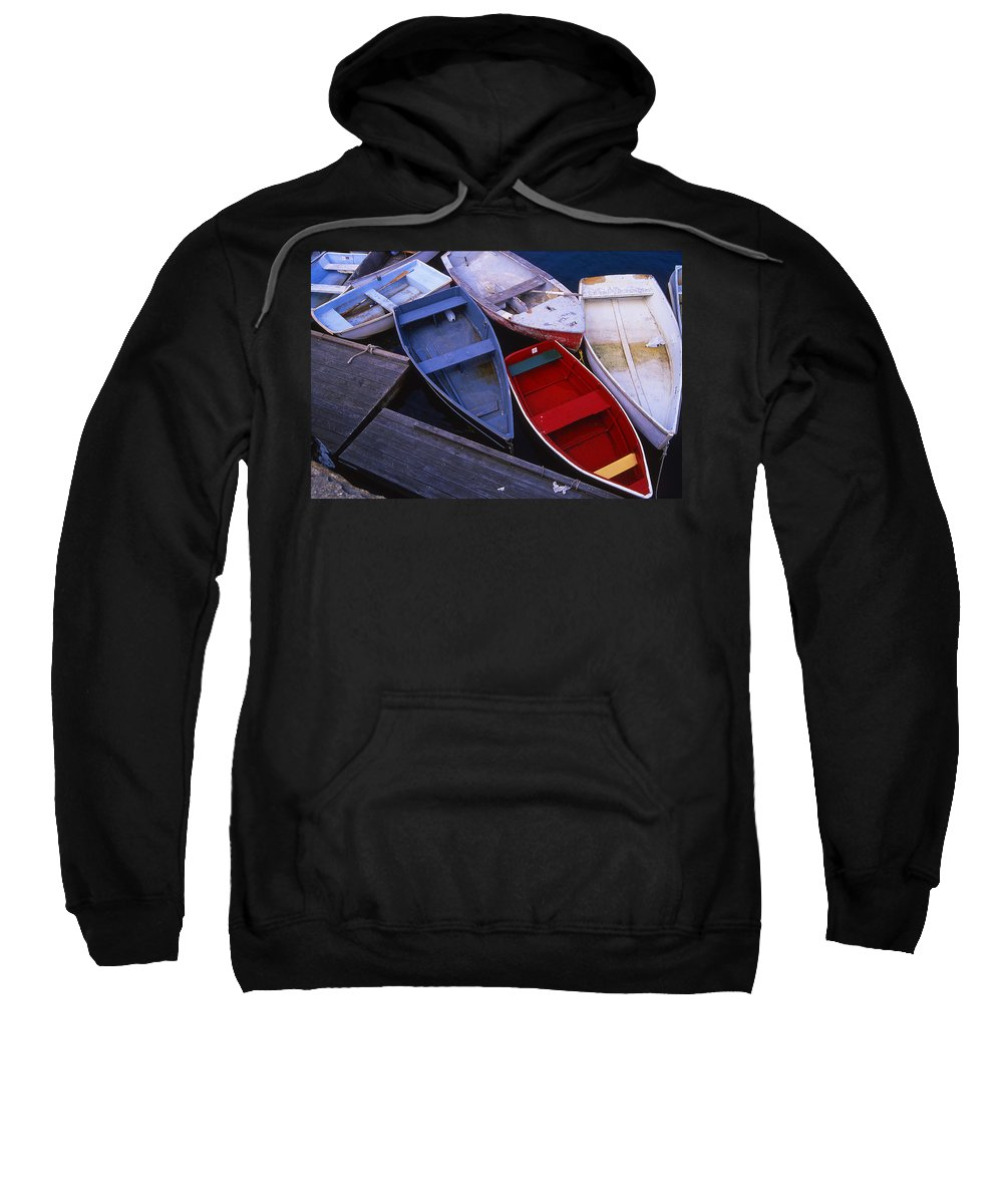 Landscape New England Boat Fishing Nautical Coast Sweatshirt featuring the photograph Cnrf0906 by Henry Butz