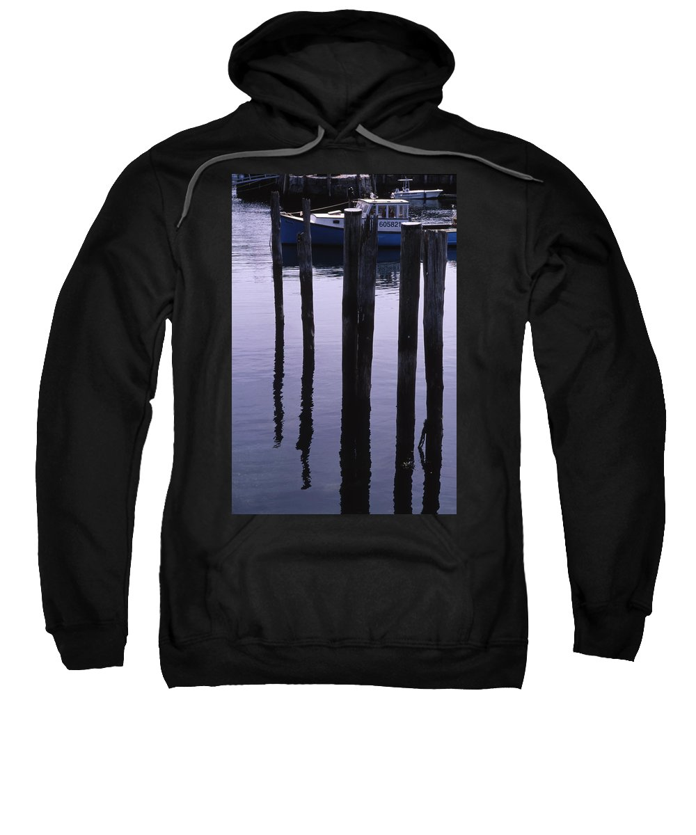 Landscape New England Fishing Boat Nautical Coast Sweatshirt featuring the photograph Cnrf0907 by Henry Butz