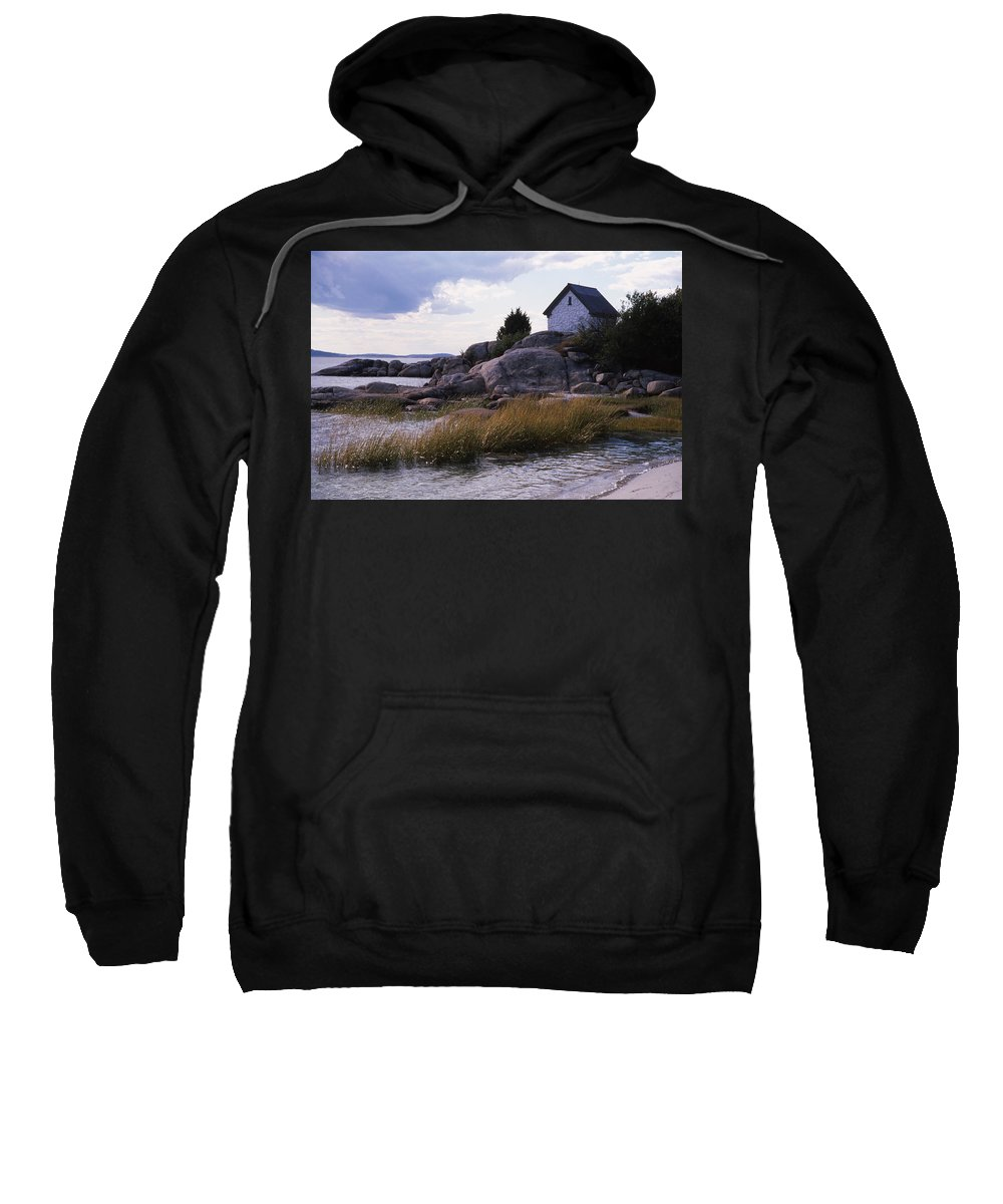 Landscape Beach Storm Sweatshirt featuring the photograph Cnrf0909 by Henry Butz