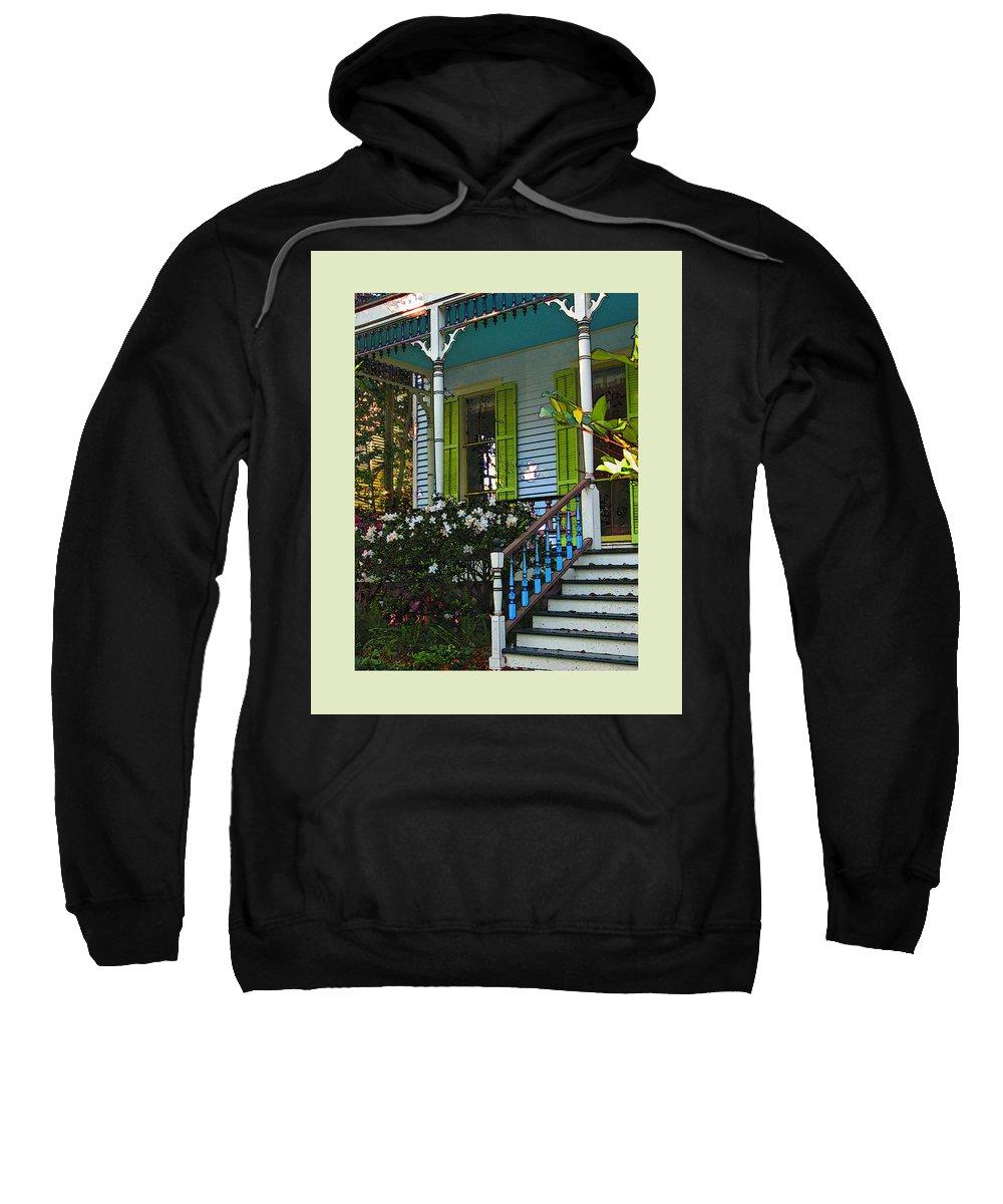 Architectural Sweatshirt featuring the photograph Coastal Charm by Laura Ragland