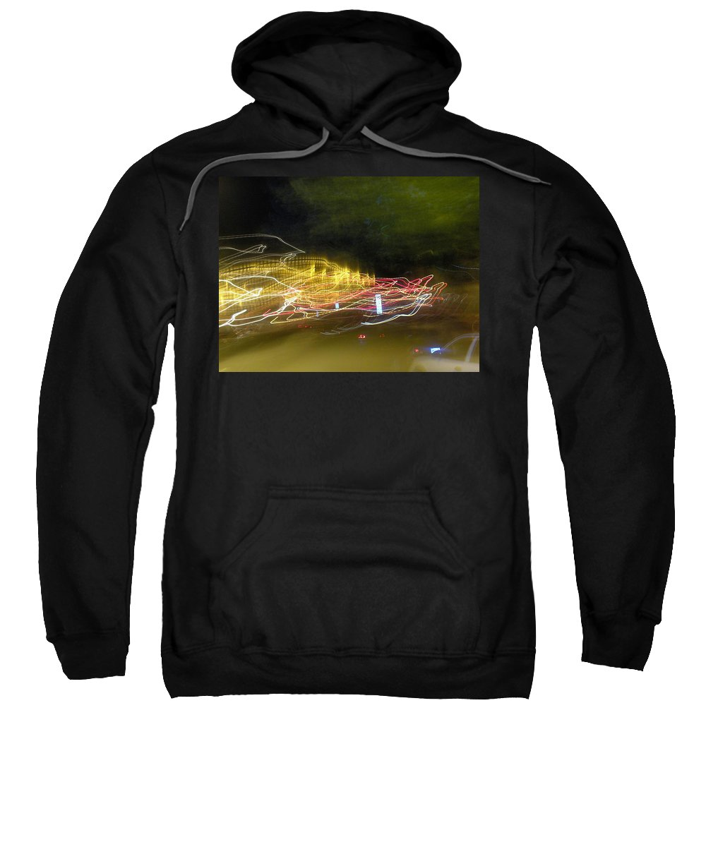 Photograph Sweatshirt featuring the photograph Coaster Of Lights by Thomas Valentine