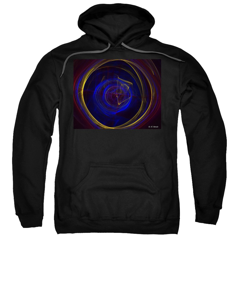 Apophysis Sweatshirt featuring the digital art Cobalt Blue by Deborah Benoit