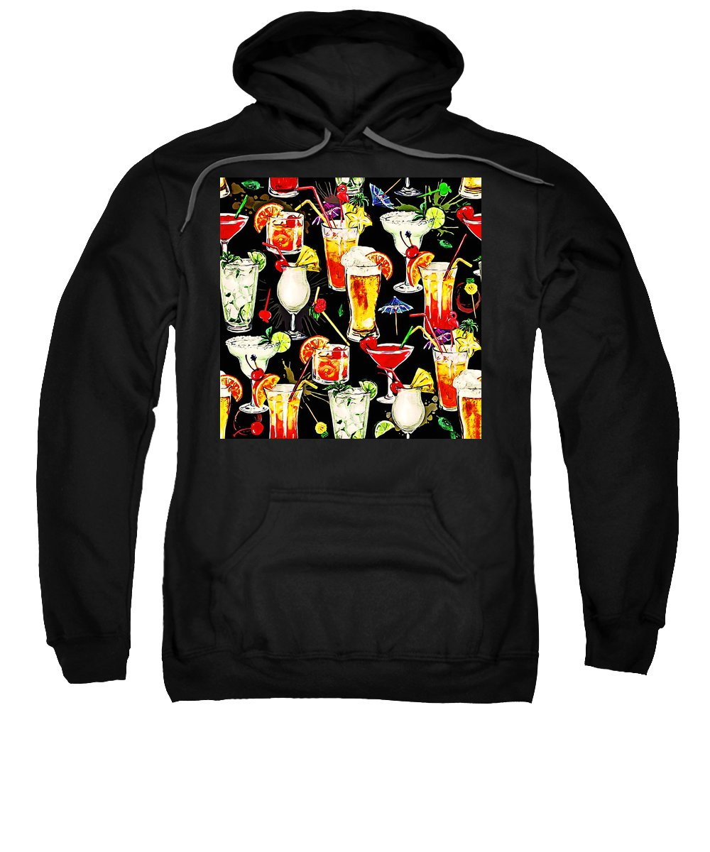 Tropics Sweatshirt featuring the painting Cocktail Hour In The Tropics by Elaine Plesser