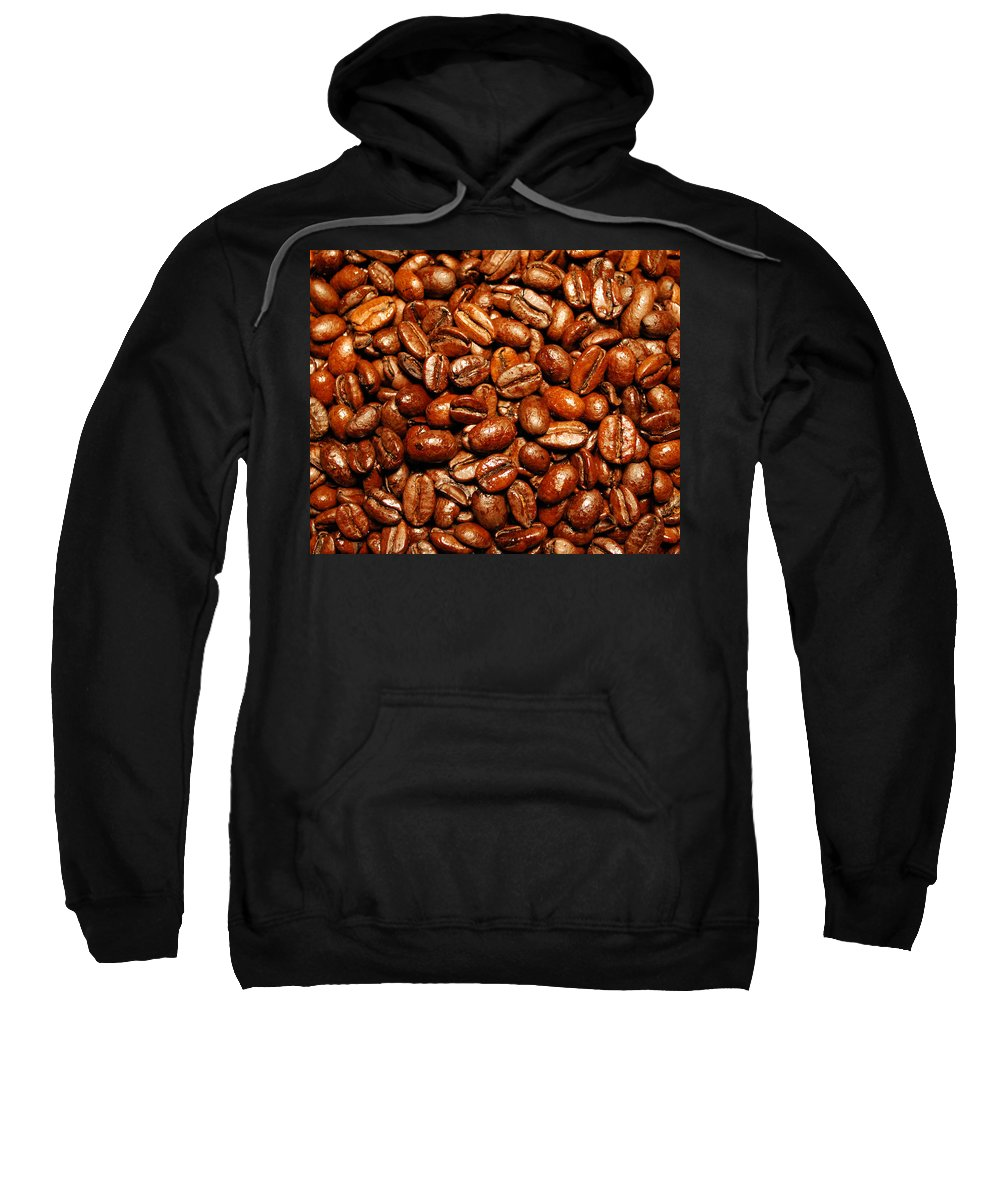 Coffee Sweatshirt featuring the photograph Coffee Beans by Nancy Mueller