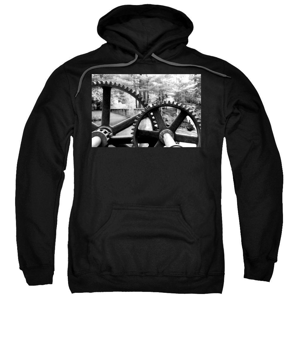 Metal Sweatshirt featuring the photograph Cogs by Greg Fortier