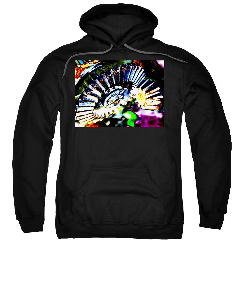 Cogs Sweatshirt featuring the digital art Cogs by Tim Allen