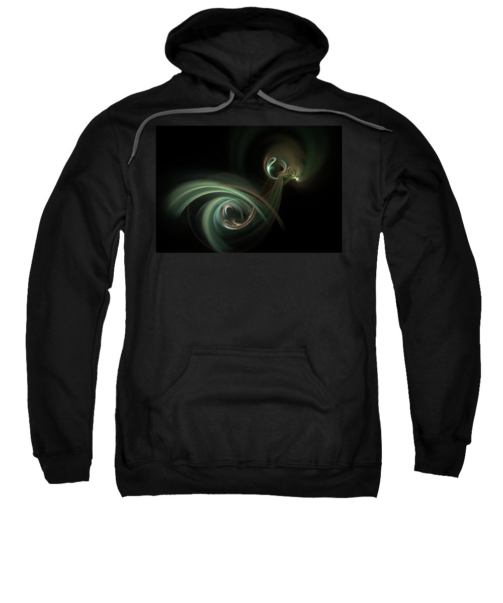 Fantasy Sweatshirt featuring the digital art Coitus by David Lane