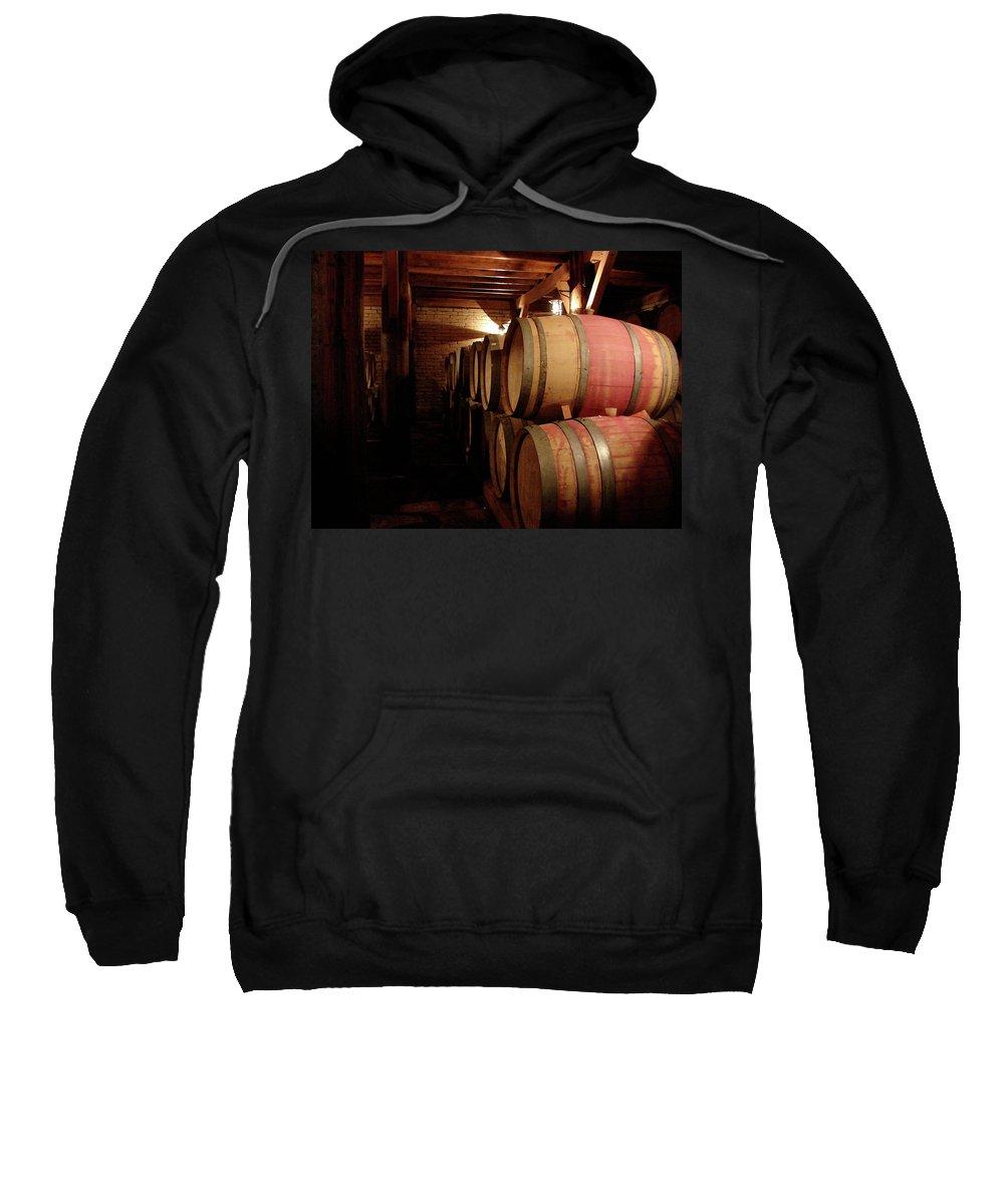 Colchagua Sweatshirt featuring the photograph Colchagua Valley Wine Barrels II by Brett Winn