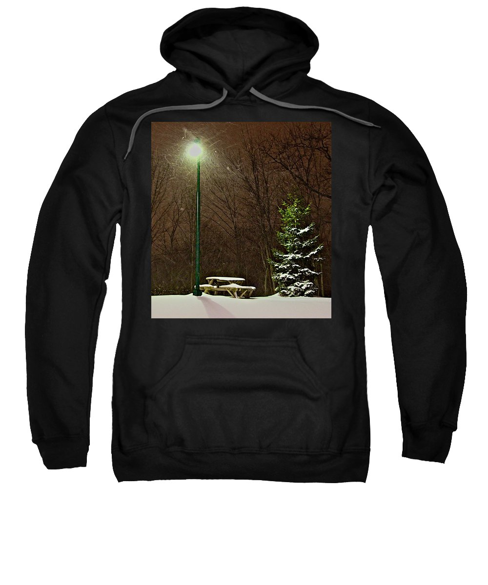 Snow Sweatshirt featuring the photograph Cold Lunch by Robert Pearson