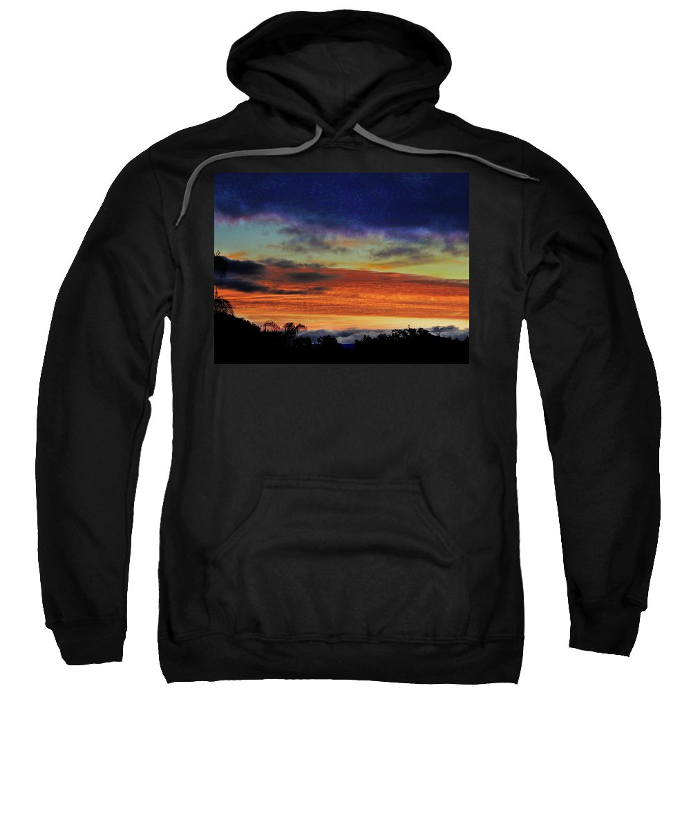 Sunrise Sweatshirt featuring the photograph Cold Sunrise by Mark Blauhoefer