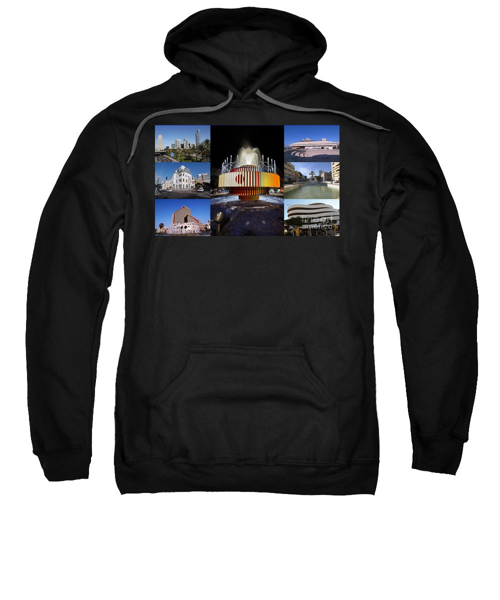 Collage Sweatshirt featuring the photograph Collage Of Tel Aviv Israel by Ilan Rosen