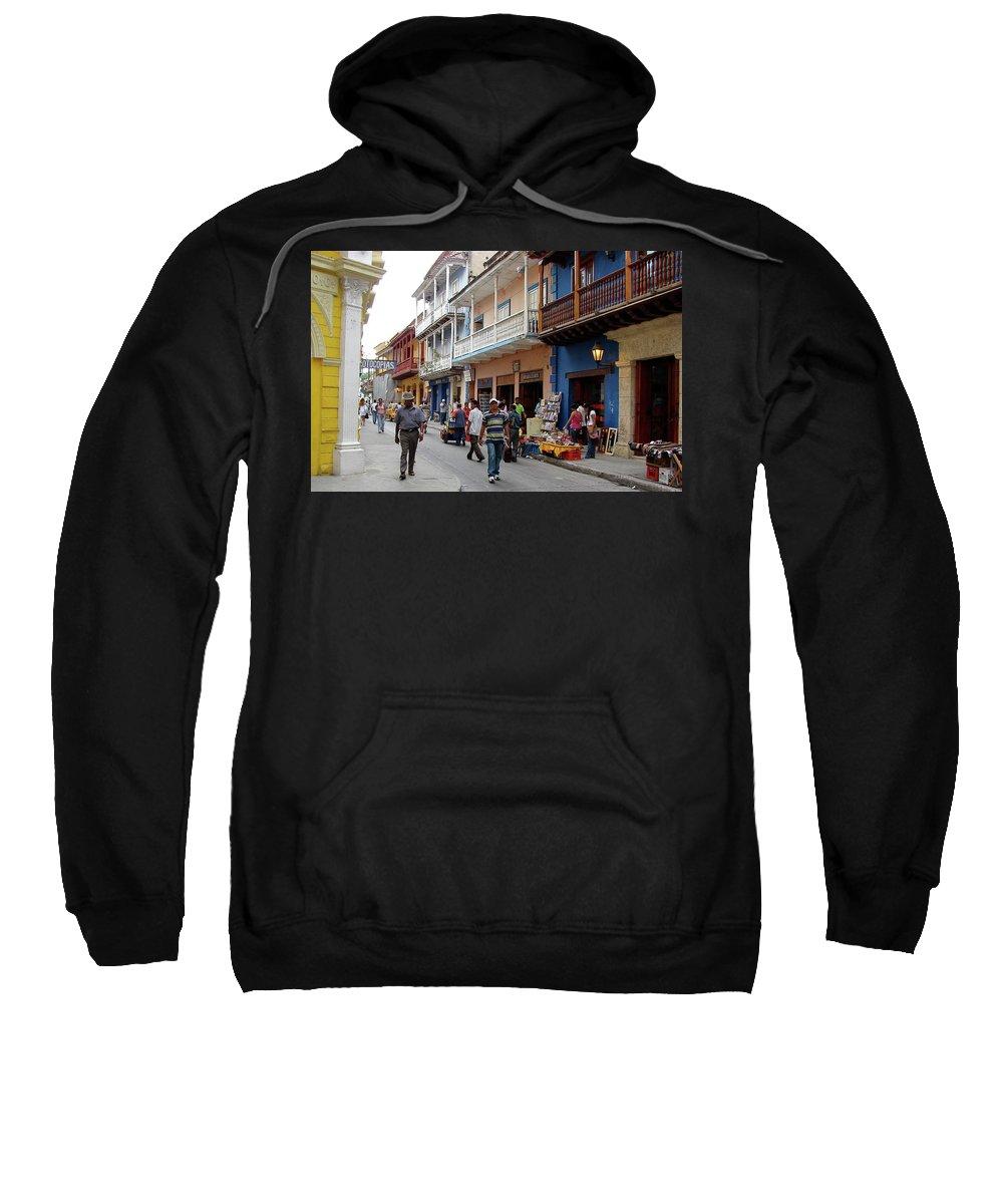 Colombia Sweatshirt featuring the photograph Colombia Streets by Brett Winn