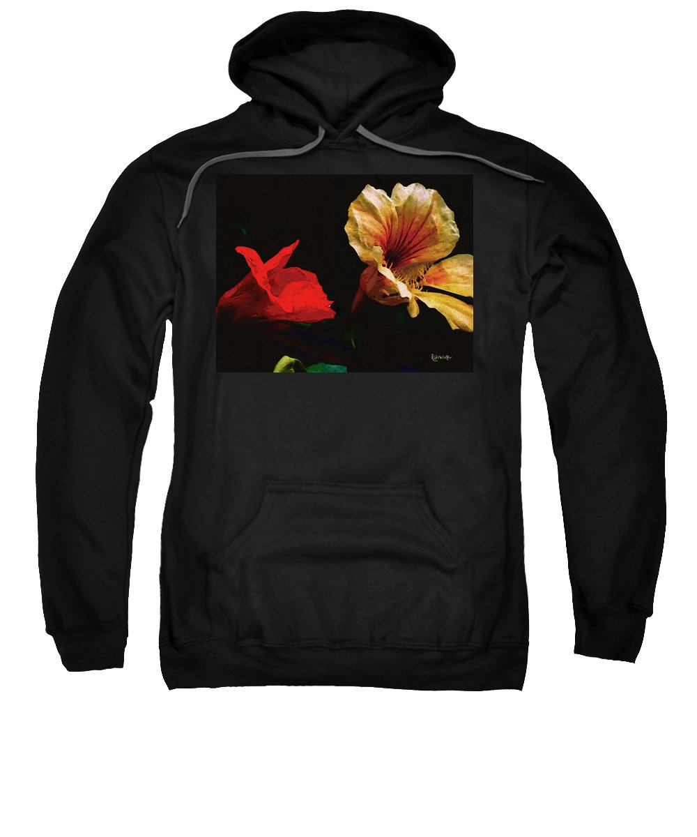 Flowers Sweatshirt featuring the painting Color And Light Suspended by RC deWinter