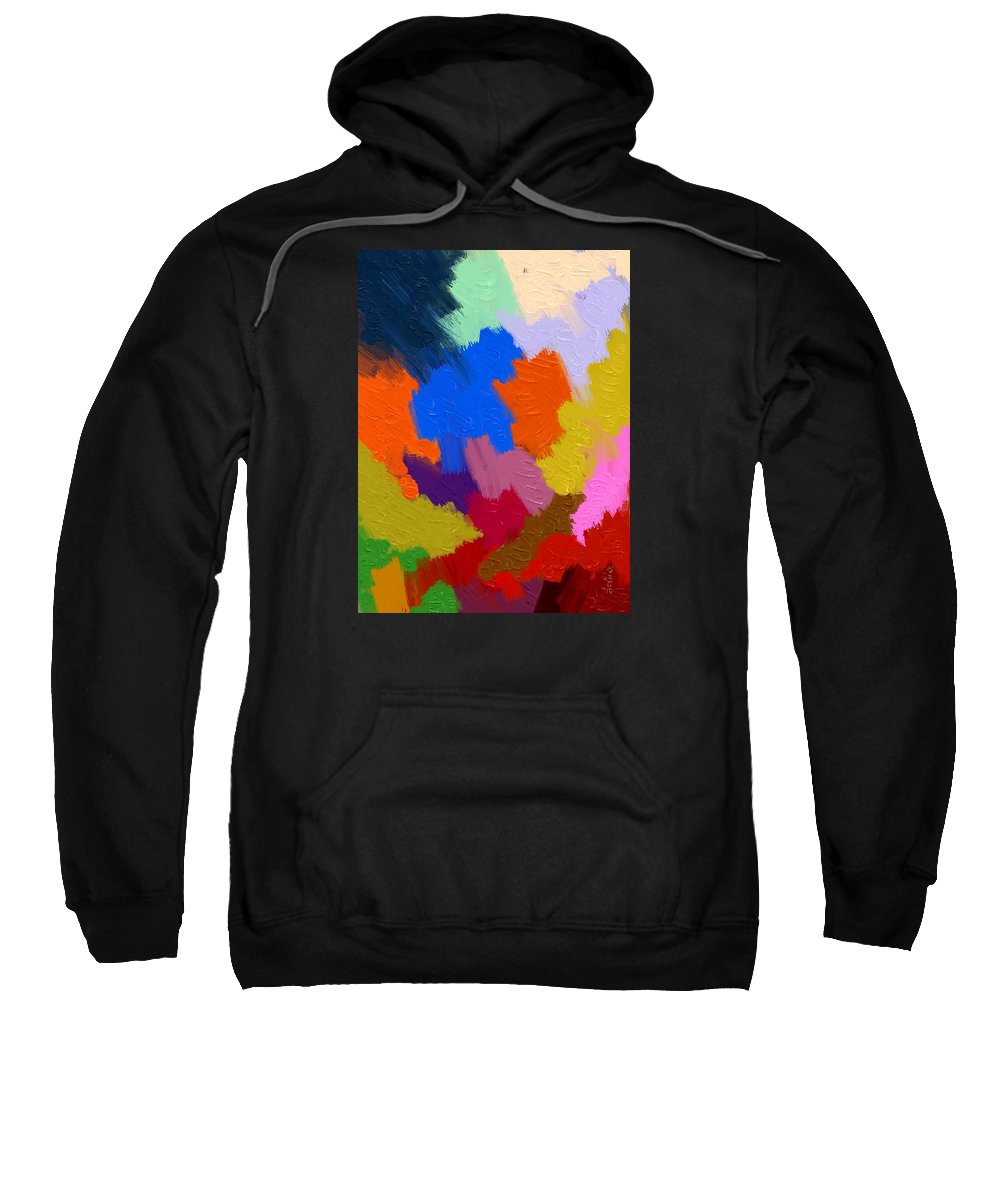 Color Sweatshirt featuring the painting Color Festival by Samsudin Ismail