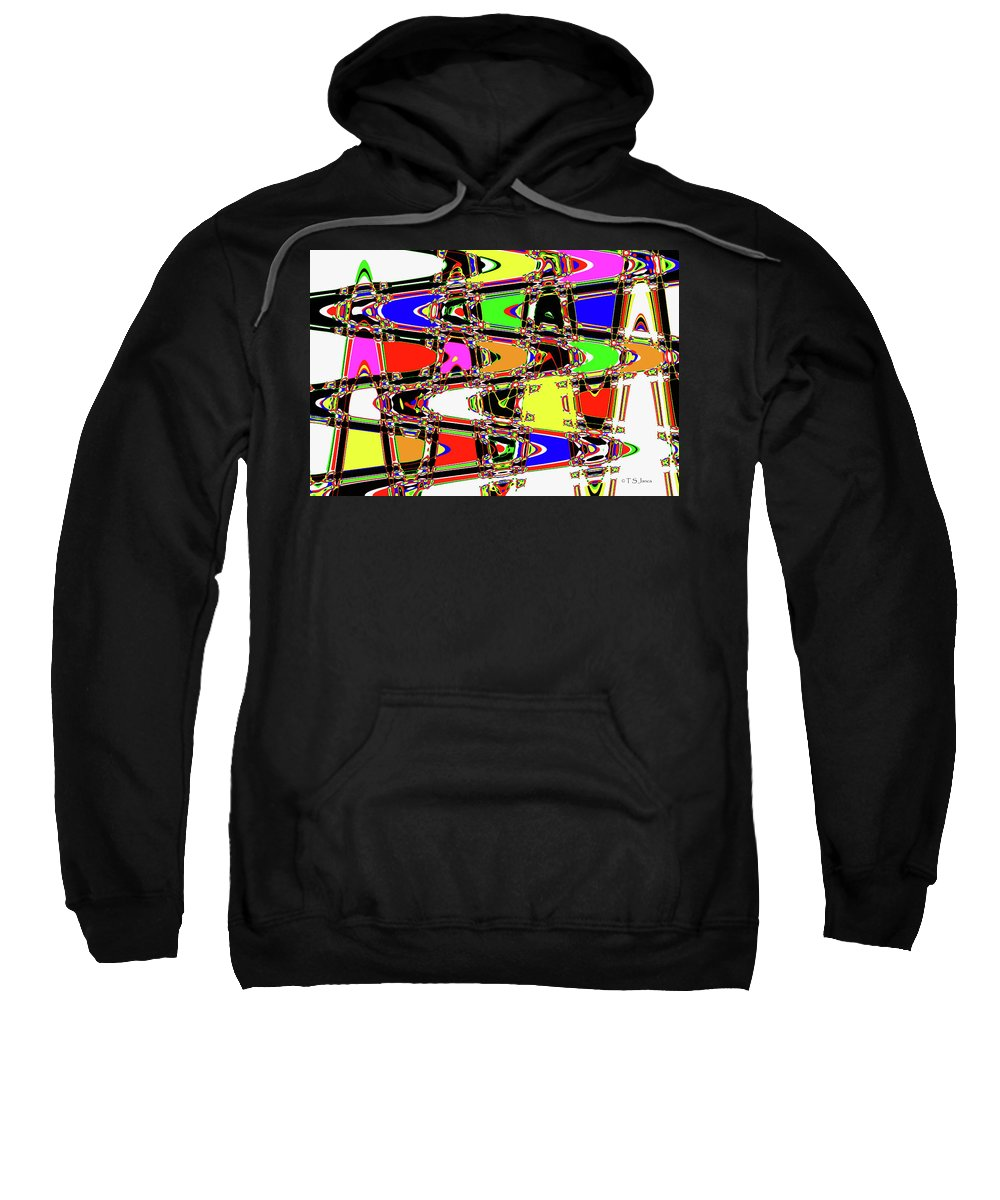 Color Wave Abstract Sweatshirt featuring the digital art Color Wave Abstract by Tom Janca