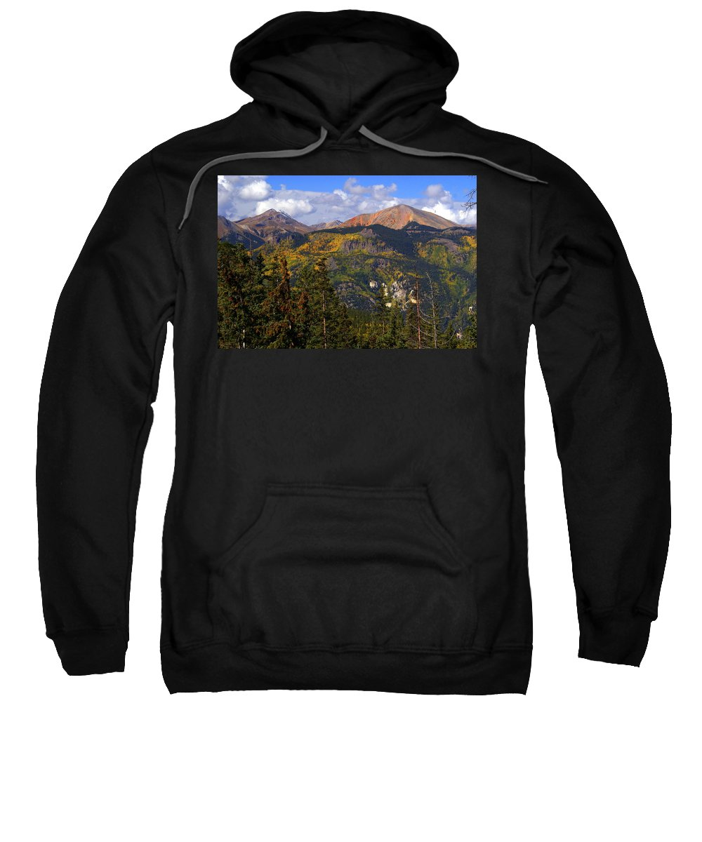 Mountain Sweatshirt featuring the photograph Colorado Fall by Marty Koch
